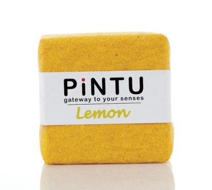 Handmade coconut oil soap with Lemon