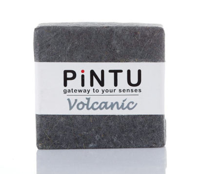 Handmade coconut oil soap with Volcanic Ash